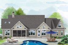 House Plan Design - Ranch Exterior - Rear Elevation Plan #929-1088