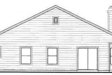 House Blueprint - Farmhouse Exterior - Rear Elevation Plan #72-105