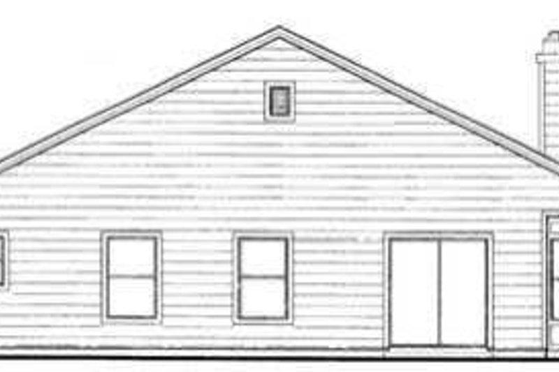 Farmhouse Exterior - Rear Elevation Plan #72-105 - Houseplans.com