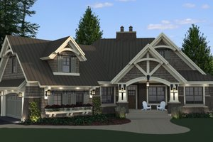 Dream House Plan - Craftsman Exterior - Front Elevation Plan #51-571
