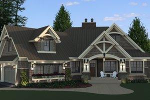 Craftsman Exterior - Front Elevation Plan #51-571