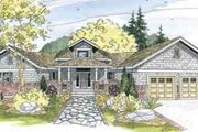 Craftsman Style House Plan - 3 Beds 2 Baths 2635 Sq/Ft Plan #124-547 Exterior - Front Elevation