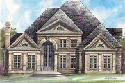 European Style House Plan - 4 Beds 3.5 Baths 3143 Sq/Ft Plan #119-129 Exterior - Other Elevation