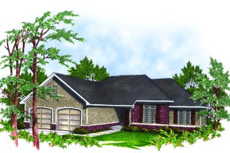 Traditional Exterior - Front Elevation Plan #70-162 - Houseplans.com