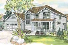 Architectural House Design - Craftsman Exterior - Front Elevation Plan #124-557