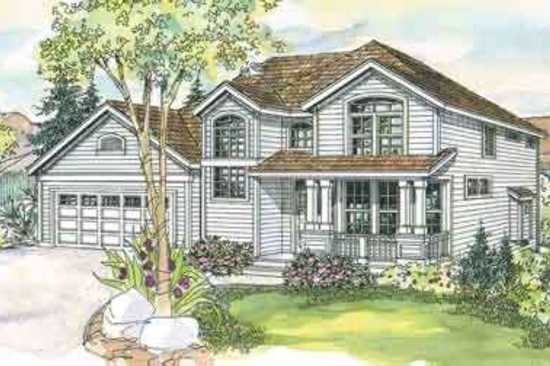 Craftsman Exterior - Front Elevation Plan #124-557