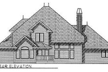 European Exterior - Rear Elevation Plan #70-477