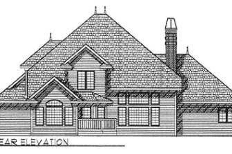 European Exterior - Rear Elevation Plan #70-477 - Houseplans.com