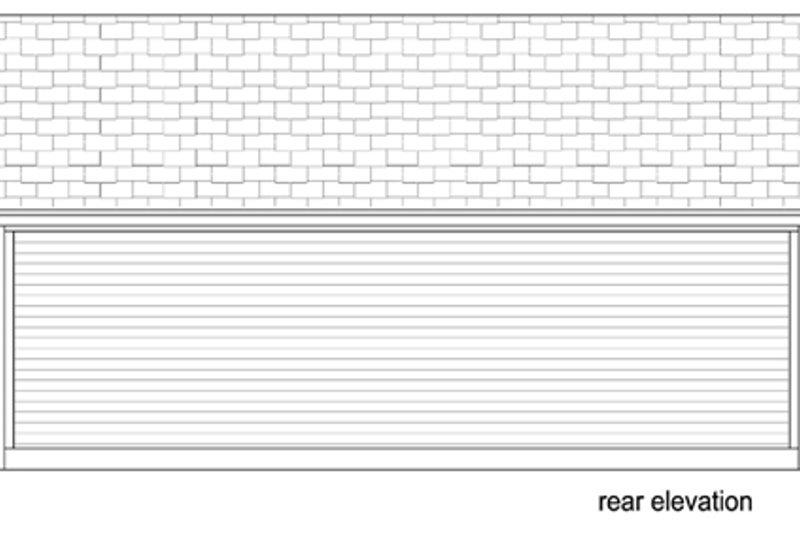 Cottage Exterior - Rear Elevation Plan #84-533 - Houseplans.com