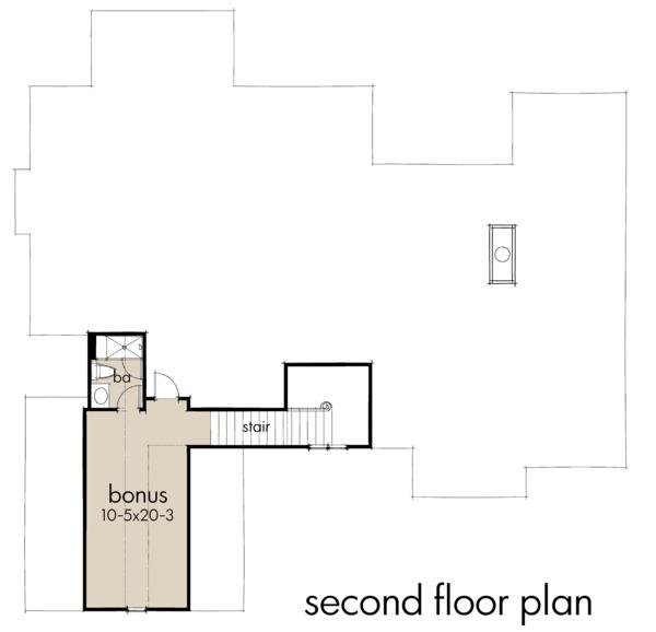 Home Plan Design - Optional Bonus Level