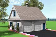 Colonial Style House Plan - 0 Beds 0 Baths 1120 Sq/Ft Plan #75-194 Exterior - Front Elevation