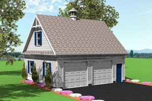 Colonial Exterior - Front Elevation Plan #75-194