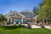 Craftsman Style House Plan - 3 Beds 4 Baths 4444 Sq/Ft Plan #928-305 Exterior - Rear Elevation