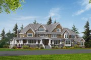 Craftsman Style House Plan - 4 Beds 6 Baths 7425 Sq/Ft Plan #132-185 Exterior - Front Elevation