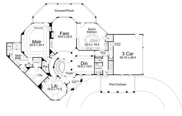 Traditional Floor Plan - Main Floor Plan #119-234