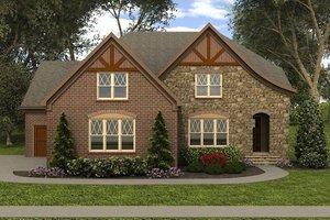 Tudor Exterior - Front Elevation Plan #413-889