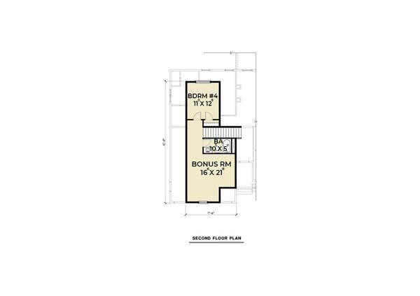 Farmhouse Floor Plan - Upper Floor Plan Plan #1070-97