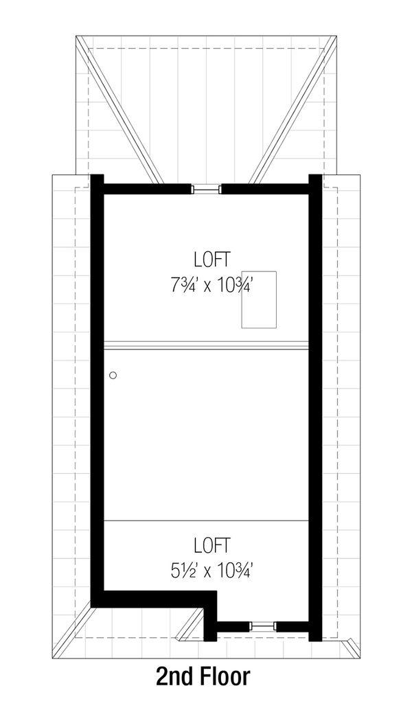 Cottage Floor Plan - Upper Floor Plan #915-8