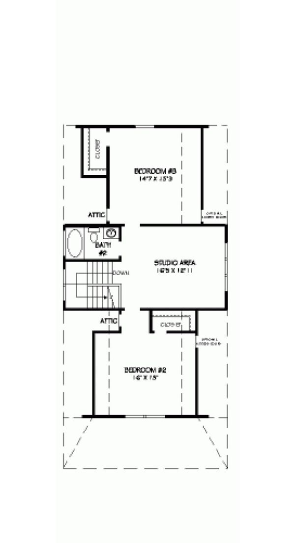 Farmhouse Floor Plan - Upper Floor Plan Plan #424-203