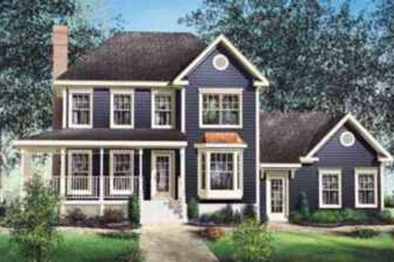 Traditional Style House Plan - 3 Beds 2.5 Baths 1807 Sq/Ft Plan #25-232 Exterior - Front Elevation