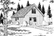 Country Style House Plan - 1 Beds 1 Baths 1003 Sq/Ft Plan #312-438 Exterior - Rear Elevation