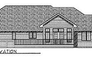 Ranch Style House Plan - 3 Beds 2.5 Baths 1843 Sq/Ft Plan #70-217 Exterior - Rear Elevation