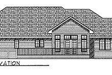 House Design - Ranch Exterior - Rear Elevation Plan #70-217
