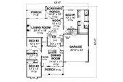 Cottage Style House Plan - 3 Beds 2 Baths 1788 Sq/Ft Plan #513-2049 Floor Plan - Main Floor Plan