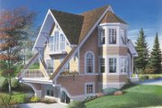 European Style House Plan - 2 Beds 1.5 Baths 1324 Sq/Ft Plan #23-2034 Exterior - Front Elevation