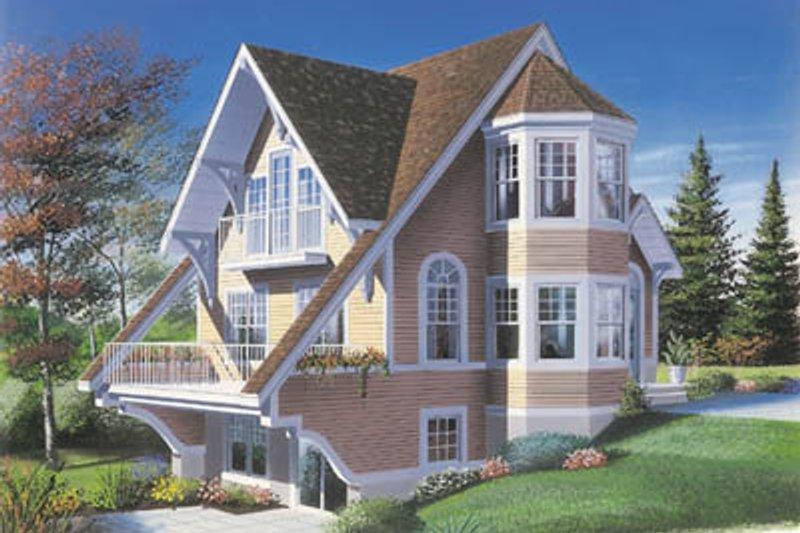 House Plan Design - European Exterior - Front Elevation Plan #23-2034