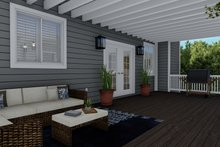 Architectural House Design - Traditional Exterior - Outdoor Living Plan #1060-8