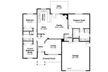 Ranch Floor Plan - Main Floor Plan Plan #124-379