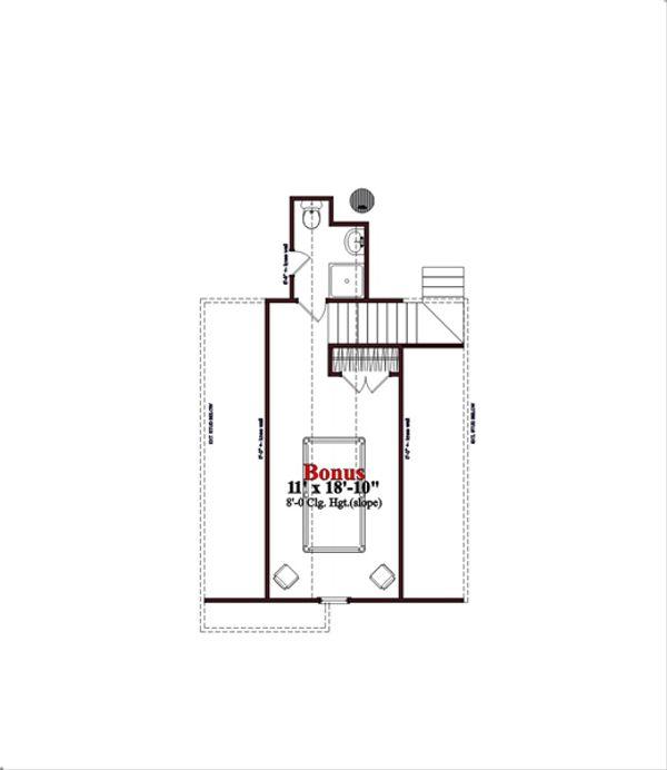 Traditional Floor Plan - Upper Floor Plan Plan #63-352
