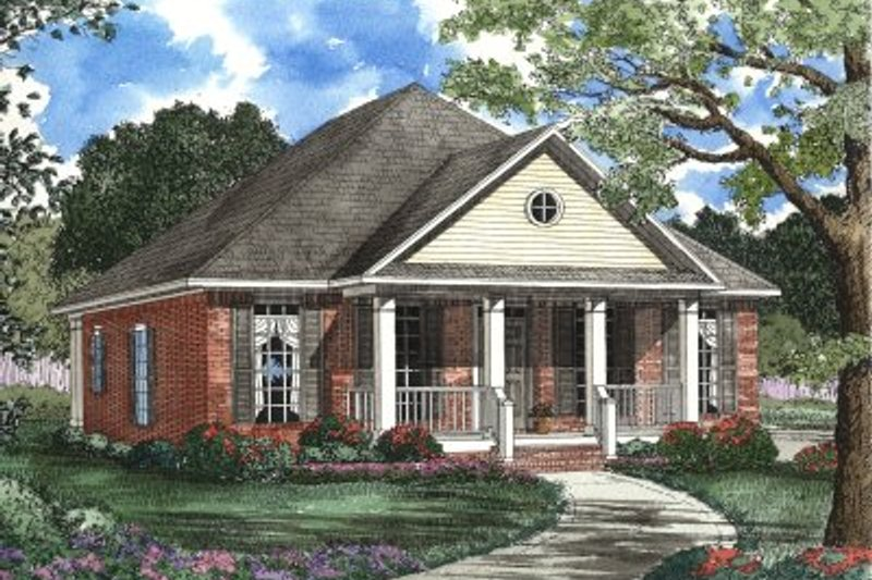 House Plan Design - Southern Exterior - Front Elevation Plan #17-1097