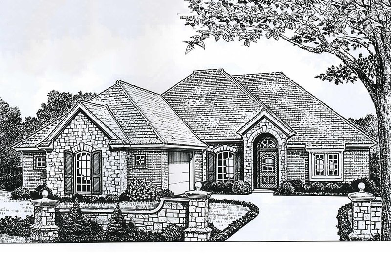 Dream House Plan - European Exterior - Front Elevation Plan #310-899