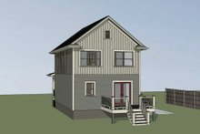 Dream House Plan - Craftsman Exterior - Rear Elevation Plan #79-311