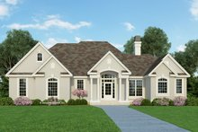 Mediterranean Exterior - Front Elevation Plan #929-291