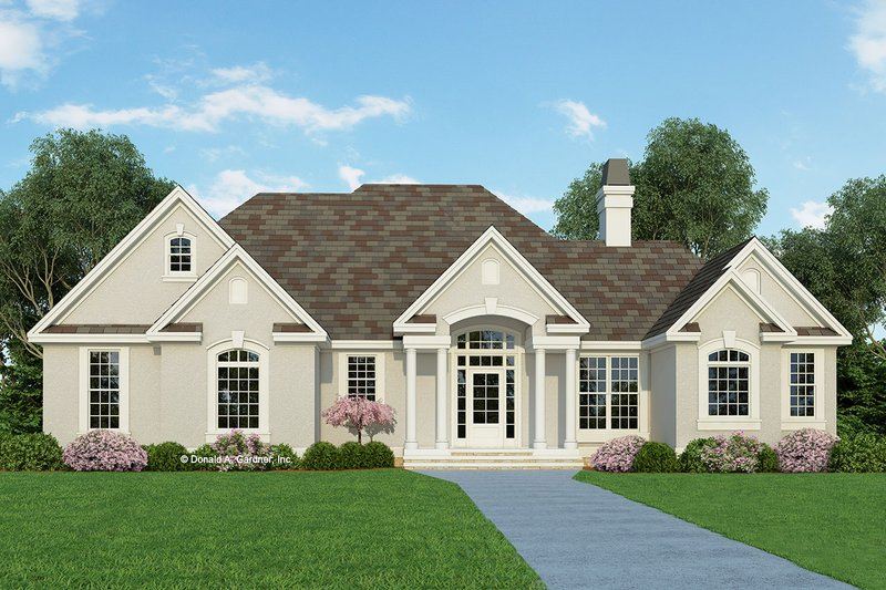 Architectural House Design - Mediterranean Exterior - Front Elevation Plan #929-291