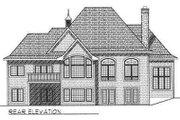 European Style House Plan - 2 Beds 2 Baths 2245 Sq/Ft Plan #70-540 Exterior - Rear Elevation