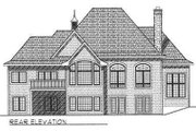 European Style House Plan - 2 Beds 2 Baths 2245 Sq/Ft Plan #70-540 Exterior - Rear Elevation