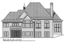 House Plan Design - European Exterior - Rear Elevation Plan #70-540
