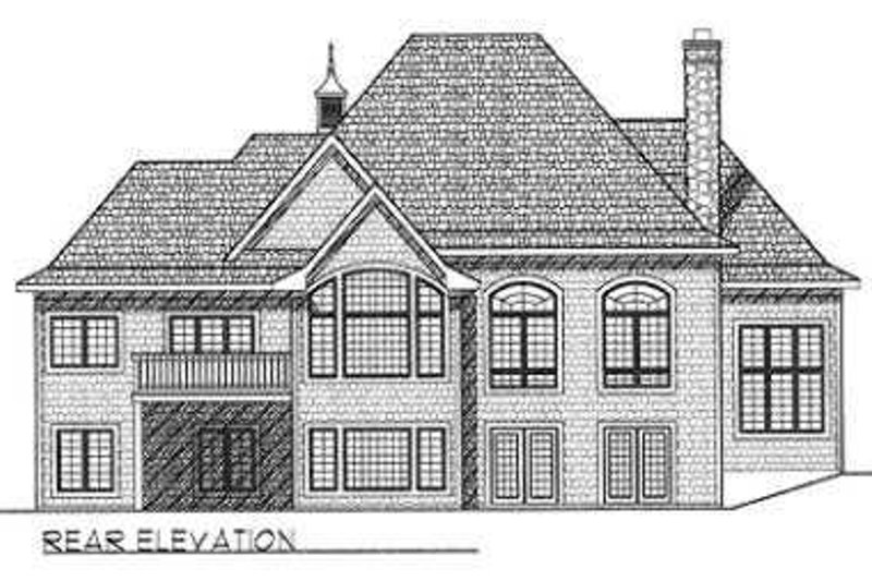 European Exterior - Rear Elevation Plan #70-540 - Houseplans.com