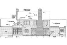 Country Exterior - Rear Elevation Plan #3-329