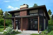 Contemporary Style House Plan - 2 Beds 1 Baths 686 Sq/Ft Plan #23-2605 Exterior - Front Elevation