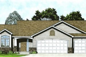 Craftsman Exterior - Front Elevation Plan #58-169