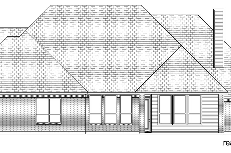Traditional Exterior - Rear Elevation Plan #84-611 - Houseplans.com
