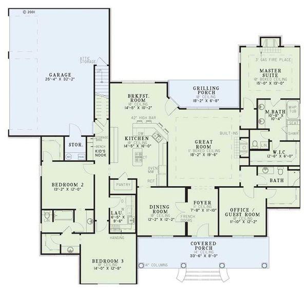 Classical Floor Plan - Main Floor Plan Plan #17-1153