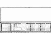 House Blueprint - Tudor Exterior - Rear Elevation Plan #72-309
