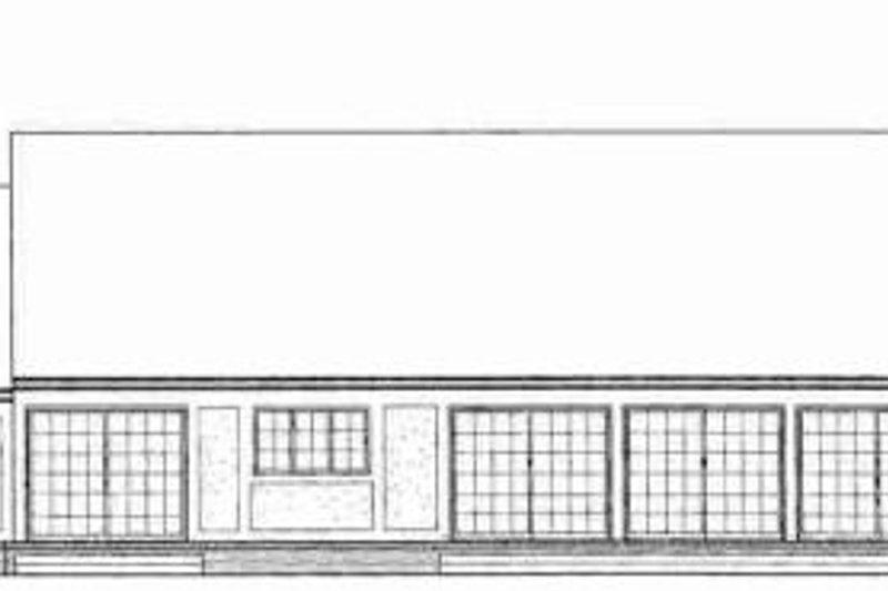 Tudor Exterior - Rear Elevation Plan #72-309 - Houseplans.com