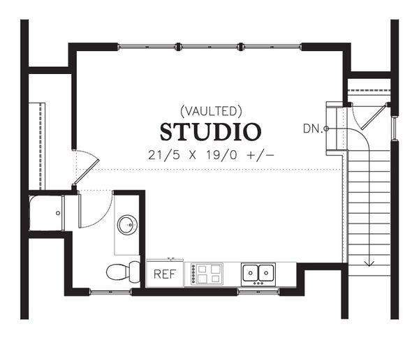 Traditional Floor Plan - Upper Floor Plan Plan #48-629